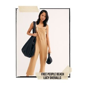 Free People Lucy Overalls in Camel